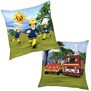 Feuerwehrmann Sam Im Einsatz 40 x 40 cm | Kinder Kissen | Dekokissen