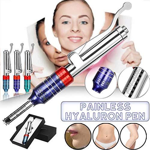XHHMN Neuer Hochdruck-Hyaluronsäure-Stift einstellbar für Anti-Falten- / Lifting-Lippen + 5 Ampullenkopf-Kits