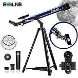 ESSLNB Teleskop für Kinder Einsteiger 60/700 Telescope Astronomy mit 10x Smartphone Adapter Ausziehbares Stativ 3X Barlow und Mondfilter Aufrechte Bilder bieten