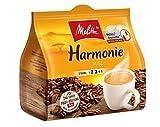 Melitta gemahlener Röstkaffee in Kaffeepads, 16 Pads, ausgewogen und mild, Stärke 2-3, Harmonie Mild