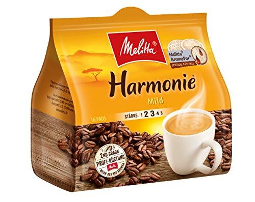 Melitta Gemahlener Röstkaffee in Kaffeepads, 10 x 16 Pads, mild, milder Röstgrad, Stärke 2,...