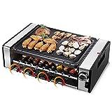 Grill barbecue elettrico automatico senza fumo, griglia teppanyaki, grill da...