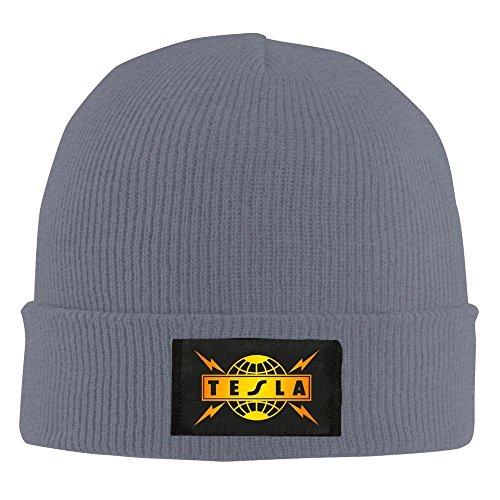 4b429eb7953 XCarmen Unisex Tesla Band Logo Beanie Hat Black Asphalt