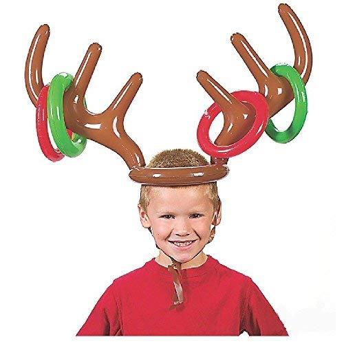 VEYLIN Vylin Aufblasbares Rentier Geweih für Weihnachten, Party, Weihnachtsspiel für Kinde Preisvergleich