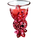 Neet's Creations Fancy Red Tealight Candle Holder For Home Décor/ Diwali