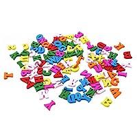 VWH 100pcs Home Decoration Wooden Letter Alphabet Arts Crafts Supplies