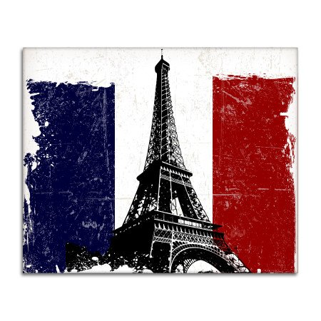 Paris French Flag Eiffel Tower Vinyl Sticker - Car Phone Helmet - 6-Inch (French Flag Bumper Sticker)
