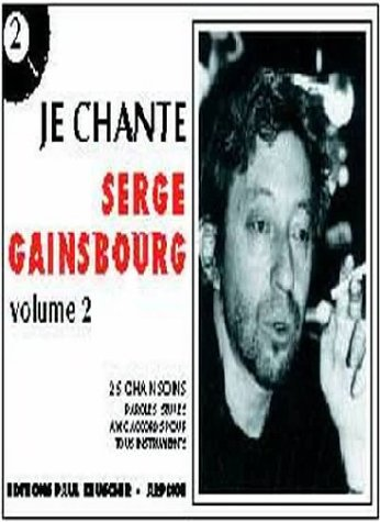 Partition : Je chante Gainsbourg, volume 2