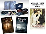 Twilight: The Complete Saga 5-Movie Collection Giftset + Destination Forks/ Twilight in Forks + Limited Exclusice Edition With Fabric Poster