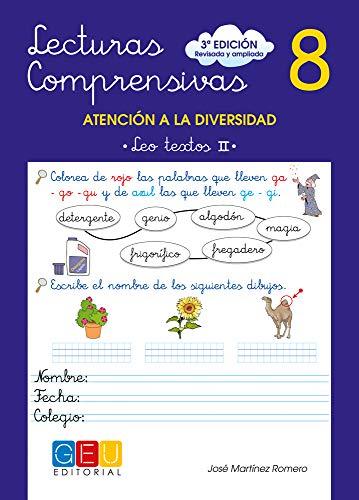 Lecturas comprensivas 8 - Leo Textos II por José Martínez Romero