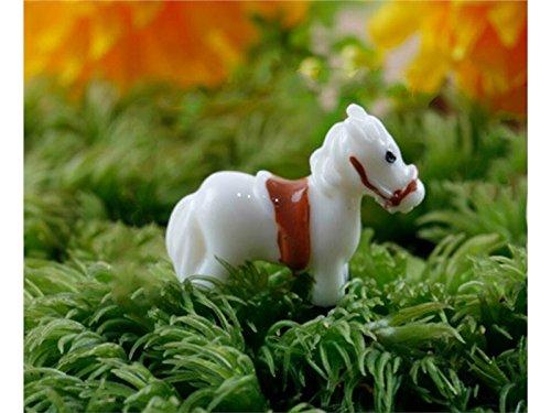 DOOUYTERT Gut Fee Garten Ornamente Miniatur Tier Pferd Bonsai Puppenhaus Dekoration für Gartenhaus...