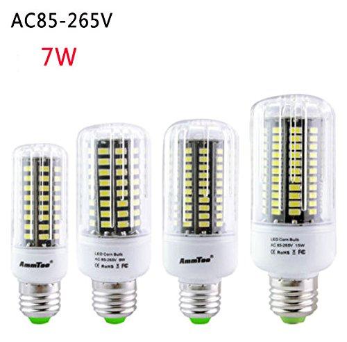 Bazaar E27 E14 E12 E17 GU10 B22 LED Mais-Birnen-7W 72 SMD 5736 LED Lampe Ampoule Led Licht AC85-265V