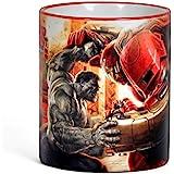 Marvel Avengers–Taza, diseño de taza de café, diseño de Hulk vs Hulkbuster diseño Fan regalo, mango de borde y oficial de 300ml