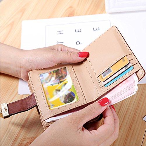 Portafogli da Donna Borsa con Diamante Bowknot Modello, Bonice Multifunzionale [Grande Capacità] Smartphone Wristlet Custodia Case Cover per iPhone 8 /8 Plus /X /7 /7Plus /6S /6S Plus /6 /6Plus /SE /5 Mini Wallet - 03