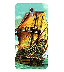 PrintVisa Cargo Ship 3D Hard Polycarbonate Designer Back Case Cover for Lenovo ZUK Z1