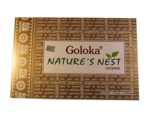 goloka-natures-nest-masala-incense-sticks-15gms-x-12-packs-by-goloka