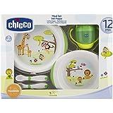 Chicco 6833000000 - Juego de vajilla y cubertería infantil, a partir de 12 meses
