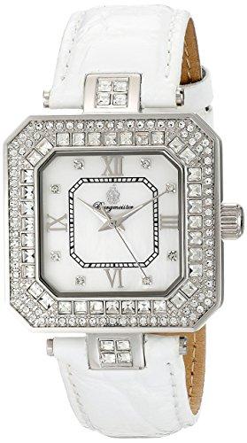 Burgmeister Armbanduhr für Damen mit Analog Anzeige, Quarz-Uhr und Lederarmband - Wasserdichte Damenuhr mit zeitlosem, schickem Design - klassische, elegante Uhr für Frauen - BM171-116A Sevilla