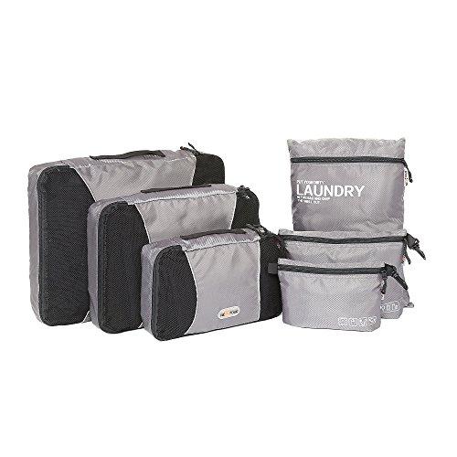Juego de 6 organizadores de viaje de Nextour, 3 sobres de embalaje, 1 bolsa...