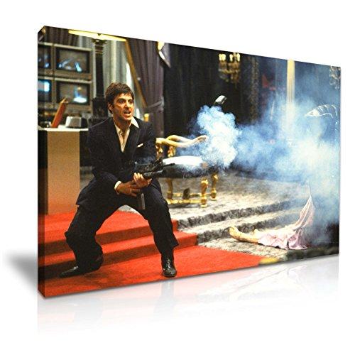 Scarface Tony Montana Icon Leinwand Kunstdruck Bild 76cm x 50cm