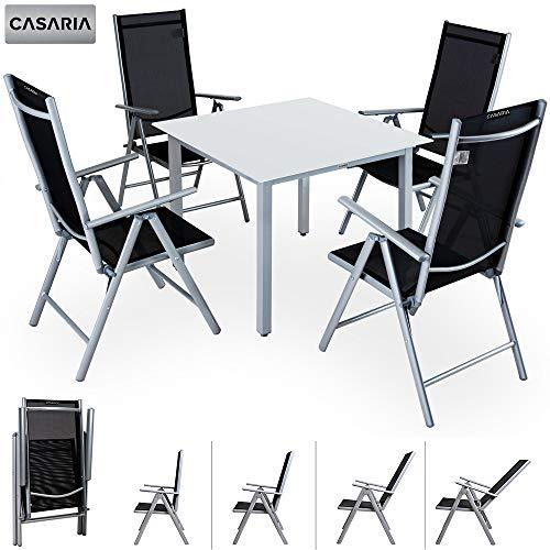 Table jardin plateau verre