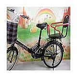CHENG Radfahren Kindersitze Verbreitert Baby Safe Schule Elektrofahrrad Kindersitz Fahrrad Rücksitz,Black,22 * 29