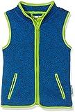 Playshoes Jungen Strickfleece-Weste mit Kontrastnähten, Oeko-Tex Standard 100, Blau (Blau 7), 104