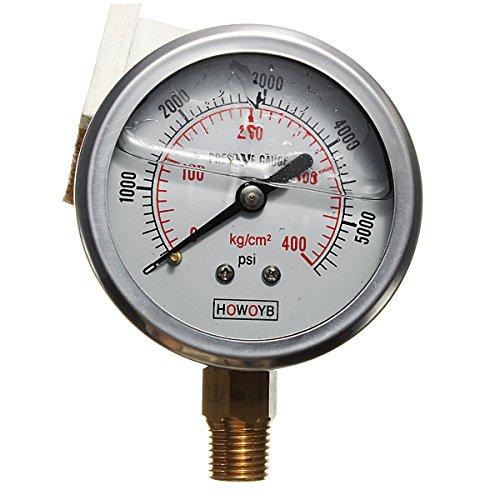 DyNamic Hydraulikflüssigkeit gefülltes Manometer 0-5000 PSI -