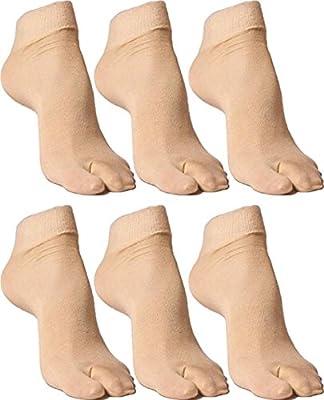 Yash Enterprises Women's Skin Colour Socks Pack Of - 6