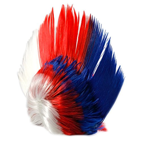 awk Perücke Party Kostüm Karneval Fasching Haare (Kinder-perücke Blau)