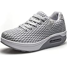 Mujer Zapatillas de Deporte Malla Air Cuña Cómodos Sneakers Mujer Casual Running Senderismo Ligero Mesh Zapatillas