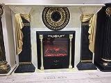 Reiner der Kamin Medusa Elektrokamin, medusa, mäander Kamin, E-Kamin,electric fireplace, Elektrischer Marmoriert Gold Kamin 1041 k 2+50