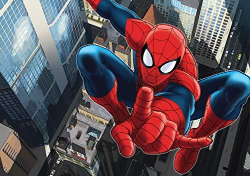 AG Design FTD 2209  Spider-Man Marvel, Papier Fototapete - 360x254 cm - 4 teile, Papier, multicolor, 0,1 x 360 x 254 cm