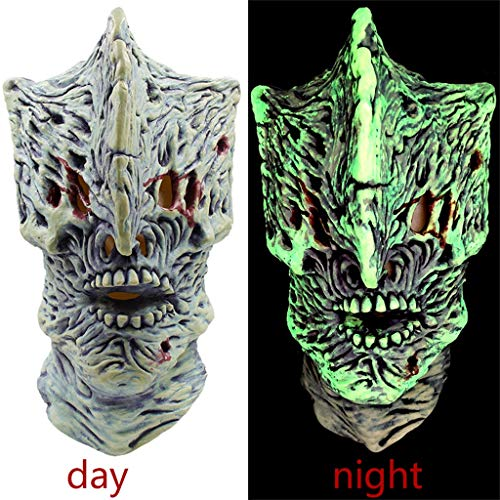Kostüm Vinyl Alte - QHJ Halloween Kostüm Party Maske Leuchtmaske Halloween Kostüm Party Maske Vollgesichtsmaske für Karnevalsparty Helloween Kostüm Party (A)