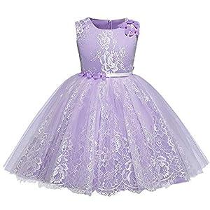 ☺HWTOP Prinzessin Kleid Kleider Mädchen Festlich Abendkleid Partykleid Kind Spitze Floral Bowknot Wedding Performance Formale Tutu Schönes Kleid Kleidung