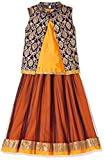 Karigari by Unlimited Girls' Regular Fit Dress Suit (275461818_Orange_07Y)