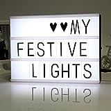 Moda Caja de luz LED A3 Tamaños Caja de LED con 80 letras USB Interfaz LED Light Pad Combinación libre para crear letreros privados