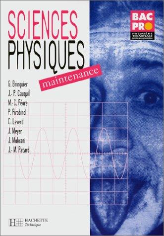 Sciences physiques : Maintenance