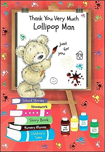 Lollipop Man Thank You GrußKarte-Bear &Whiteboard cm x 19.05 13.33 37144-A Code cm