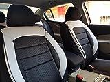 Sitzbezüge k-maniac | Universal schwarz-weiss | Autositzbezüge Set Vordersitze | Autozubehör Innenraum | Auto Zubehör für Frauen und Männer | V1031859 | Kfz Tuning | Sitzbezug | Sitzschoner