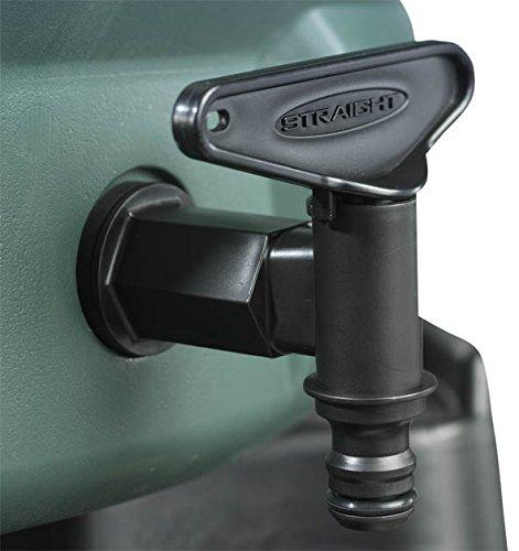 Straight Ersatz-Wasserhahn für Regentonne, Universal-Armatur, für 3/4-Zoll-BSP-Gewinde (19 mm), Schlaucharretierung kompatibel mit Schnappverschluss