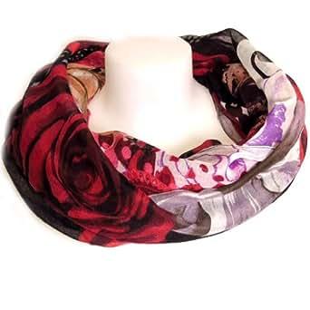 Desigual [L1033] - Echarpe tube / snood 'Desigual' rose noir rouge