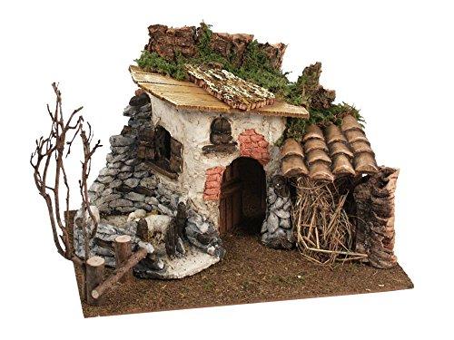 Chalet-Stil Farmhouse für Krippe, Holz, Mehrfarbig, 32x 23x 24cm ()