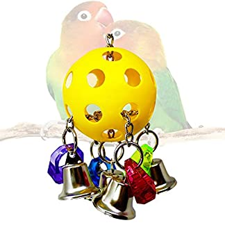 Colorful Sound Bells Ball Climbing Biting Toy for Parrot African Grey Macaw Budgie Parakeet Cockatiel Cockatoo Conure Lovebird Finch Cage Hanging Toys Decor Colorful Sound Bells Ball Climbing Biting Toy for Parrot African Grey Macaw Budgie Parakeet Cockatiel Cockatoo Conure Lovebird Finch Cage Hanging Toys Decor 519CXJLhdVL