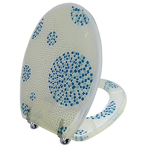 Toilettensitz / Wc Deckel / Toilettendeckel / Klobrille Top Qualität Mosaik blau