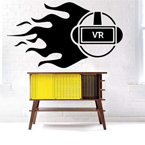 58 * 103 cm Brille Wandtattoo Vinyl Aufkleber Decor Wandbild Spiel Virtuelle Realität Wohnkultur Modernes Design Vinyl wohnzimmer Wandaufkleber