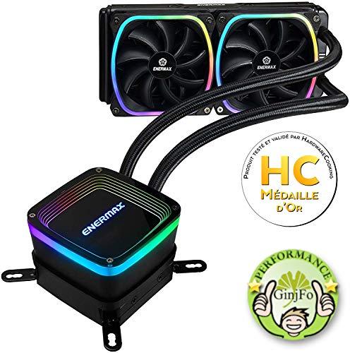 ENERMAX Ven CPU Ref LIQUIDA AQUAFUSION RGB 240 2 Ventiladores/Compatible Socket Intel Y AMD ELC-AQF240-SQA