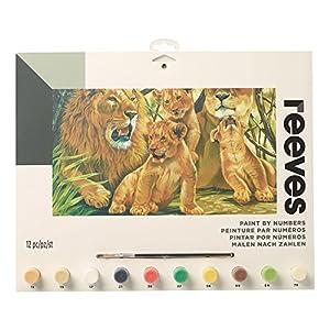 Reeves - Creatividad - Pintar por números - Grande, manada de leones