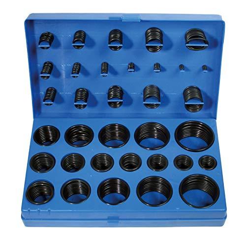 BGS 8045   O-Ring-Sortiment   419-tlg.   Ø 3 - 50 mm   säure-, benzin-, hitze und ölbeständig   aus NBR gefertigt   im Koffer