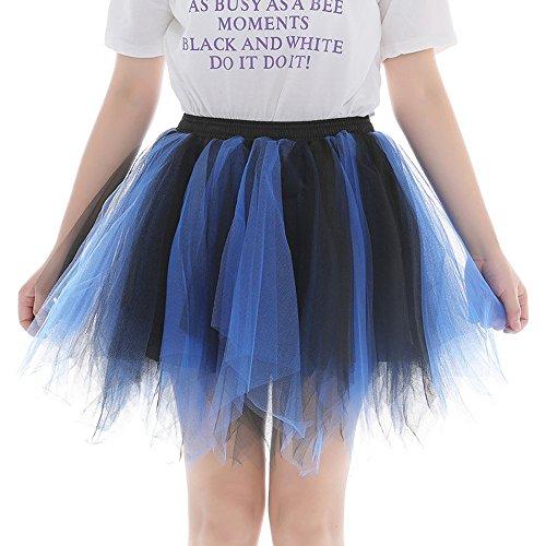 Sllowwa Tütü Rock Damen Tüllrock Ballett Röcke Tutu Rock Ballettrock Tütü Tüllrock für Party Mädchen Kostüm Ballettrock Classic Tanzbekleidung